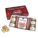 Gourmet Mustard Set With Pretzels In Gift Box