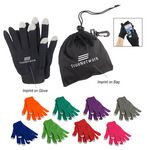 Custom Touch Screen Gloves In Pouch