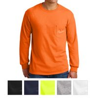 Gildan® Ultra Cotton® 100% Cotton Long Sleeve T-Shirt with Pocket