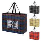 Custom Soho Tartan Laminated Non-Woven Shopper Bag