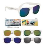 Custom Rubberized Mirrored Sunglasses