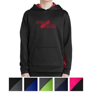 Sport-Tek Youth Sport-Wick Fleece Colorblock Hooded Pullover