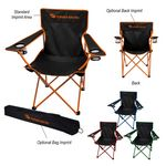 Custom Jolt Folding Chair With Carrying Bag