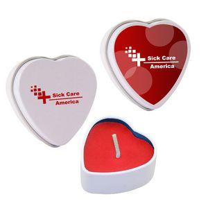 Custom Imprinted Heart Shaped Candles