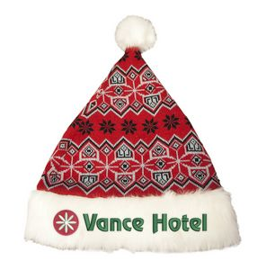 Custom Printed Polyester Santa Hats