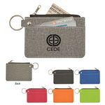 Custom Heathered Card Wallet With Key Ring