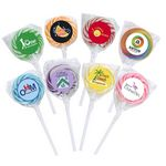 Custom Swirl Lollipop with Round Label