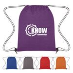 Custom Heathered Non-Woven Drawstring Backpack