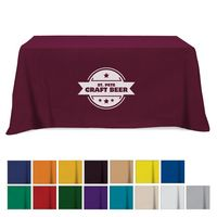 Flat Poly/Cotton 3-sided Table Cover - fits 6