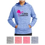 Custom Sport-Tek Youth PosiCharge Electric Heather Fleece Hooded Pullover