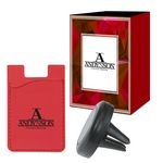 Custom Magnetic Auto Air Vent Phone Wallet With Custom Box