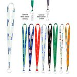 Custom Full Color Imprint Smooth Dye-Sublimation Lanyard - 3/4