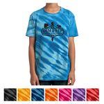 Custom Port & Company Youth Tiger Stripe Tie-Dye Tee
