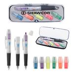 Custom Tri-Color Pen and Highlighter Set