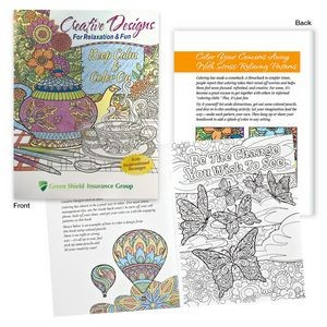 Imprinted Adult Coloring Books | Promotional Coloring Books for Adults