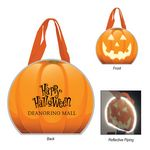Custom Reflective Halloween Pumpkin Non-Woven Tote Bag