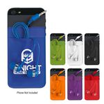 Custom Stretch Phone Card Sleeve With Earbuds