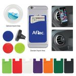 Custom Silicone Magnetic Auto Air Vent Phone Wallet