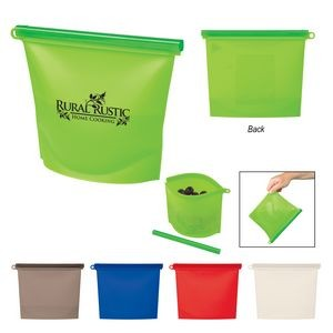 Reusable Food Bag With Plastic Slider