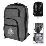 Custom Heathered RFID Laptop Backpack & Briefcase