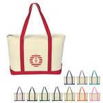 Custom Large Heavy Cotton Canvas Boat Tote Bag