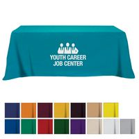 Flat Poly/Cotton 4-sided Table Cover - fits 8