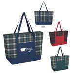 Custom Crawford Plaid Tote Bag