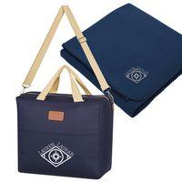 Hefty Cooler Bag With Fleece Blanket