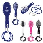 Custom Hair Brush And Bands With Carabiner