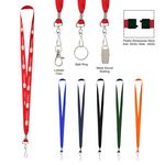 Custom Polyester Lanyard With J-Hook