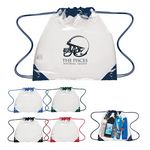 Custom Touchdown Clear Drawstring Backpack