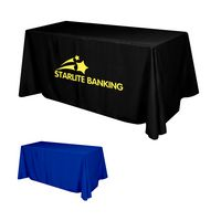 Flat Polyester 3-Sided Table Cover - fits 6