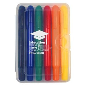 6-Piece Retractable Crayons In Case