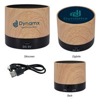 Allegro Wood Grain Wireless Speaker
