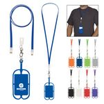 Custom 2-In-1 Charging Cable Lanyard With Phone Holder & Wallet