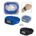 Custom Digital LCD Pedometer Watch In Case
