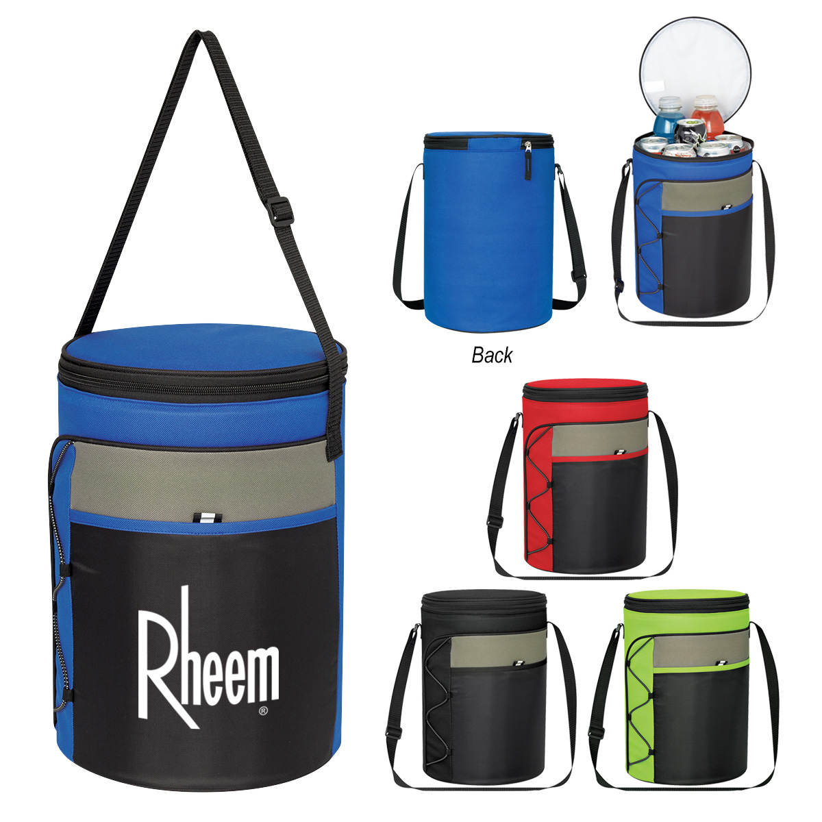Cylindrical Insulated Cooler Bag