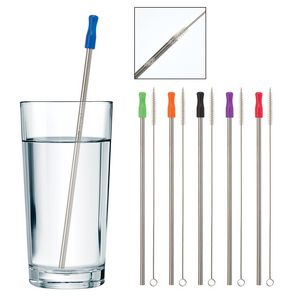 Stainless Steel Straw with Cleaning Brush