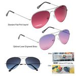 Custom Ocean Gradient Aviator Sunglasses