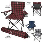 Custom Northwoods Folding Chair With Carrying Bag