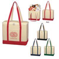 Large Cotton Canvas Cooler Bag