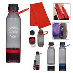 Custom 15 Oz. Energy Sports Bottle With Phone Holder and Cooling Towel