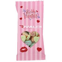 Clear Plastic Snack Pack Bag with Conversation Hearts