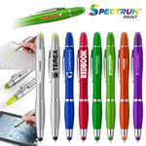 Custom Curvaceous Metallic Stylus Highlighter Pen