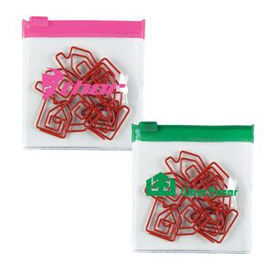 Bent Shaped Paperclips in Zip Pouches -