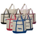 Custom Large Canvas Deluxe Tote Bag