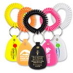 Custom Coil Wrist Bracelet Key Tag