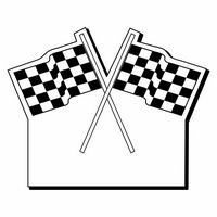 """Checkered Flag Notekeeper Magnet- 20 Mil Process Color (2-1/2""""x3-1/8"""")"""