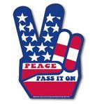 Peace Sign Pick 2™ Magnetic Sign (4 7/16