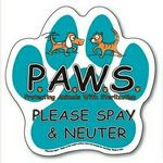 Paw Print Ampli-Fey™ Color Magnetic Sign (6